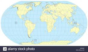 Detailed Map Of Africa by Very High Detailed Map Of The World In Robinson Projection With