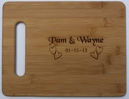 cutting board with recipe engraved home
