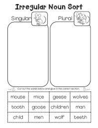 plural nouns worksheets for 2nd grade worksheets