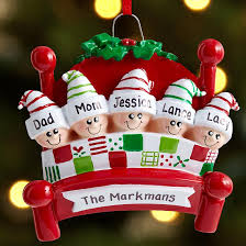 family in bed ornaments ornament clay and polymers