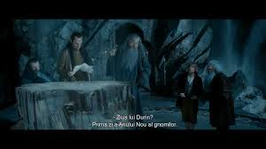 The Hobbit Map The Hobbit An Unexpected Journey Elrond Reads Thorin U0027s Map