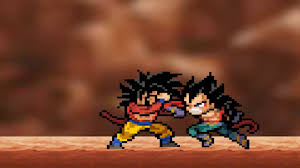 goku super saiyan 4 vs prince vegeta super saiyan 4 sprite fight
