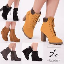 s heeled ankle boots uk womens wedge heel combat ankle boots lace up block heel