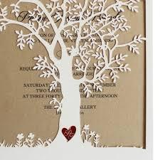Tree Wedding Invitations Laser Cut Tree Wedding Invitations Fall Wedding Invitation Cards