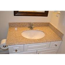pegasus 79682 37 inch by 22 inch solid granite vanity top beige
