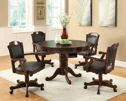 Dining Room Chairs With Arms And Casters Beautiful Casters For Dining Room Chairs Ideas Home Design Ideas
