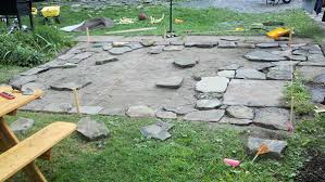 Gravel Patio Construction How To Build A Flagstone Patio In 3 Days