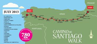 Camino De Santiago Map Camino De Santiago Walk For A Cause