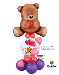 teddy in a balloon gift valentimes presents you balloon scultures gifts from balloon
