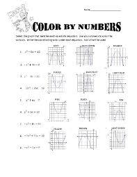 factoring quadratics color by numbers