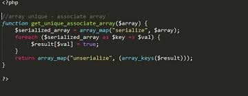 php array map unique array values in multi dimensional associate array php