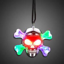 light up led skull necklace