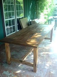 Plans For Outdoor Wood Table by Wooden Outdoor Dining Table U2013 Rhawker Design