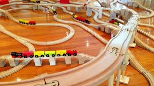 Making Wooden Toy Train Tracks by Mountain Speed With Fun Kids Trains Sets Toy Train Track 20