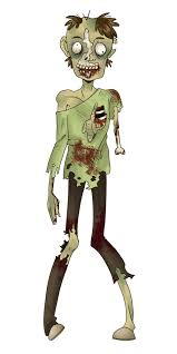 zombie clipart image a green zombie holding a happy halloween sign