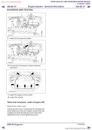 engine ford kuga 2011 1 g workshop manual