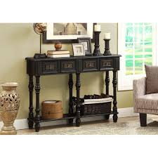 Black Console Table Amazon Com Monarch Veneer Traditional Console Table 48 Inch