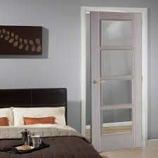 Interior Doors Uk Light Grey Vancouver Door Is Prefinished With Clear Safety Glass