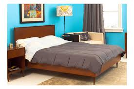 bedroom best mid century bedroom decor with rectangle brown wood