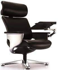 Reclining Office Chair With Footrest Nuvem Leather Office Chair With Footrest And Built In Laptop
