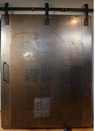 exterior metal sliding doors over glass garage doors 3820