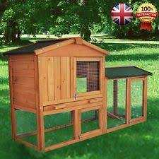 4ft Rabbit Hutch With Run 4ft Large Double Rabbit Hutch Guinea Pig Run Deluxe Pet