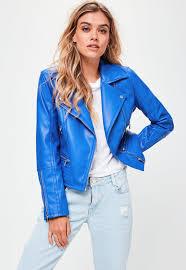 blue motorbike jacket biker jackets women u0027s aviator u0026 pilot jackets missguided