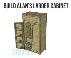 alans plans com plans build alans larder cabinet copy knock offs pinterest