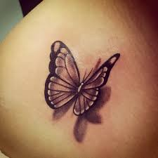 neat black and white 3d butterfly tattoos re