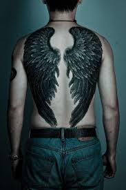 tattoo pictures of angel wings black ink angel wings tattoo on man full back