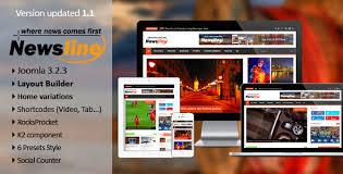 newsline u2013 responsive magazine joomla template free download