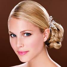 side bun updos hairstyles with hair accessories