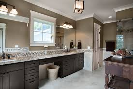 Mirrored Subway Tile Backsplash Bathroom Transitional With by Colored Crown Molding Bathroom Transitional With Mosaic Tile