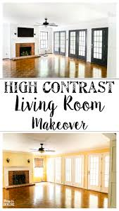 living room makeover high contrast paint bless u0027er house