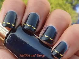 nail design tape strips nail arts