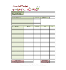 Excel Household Budget Template 10 Household Budget Templates Free Sle Exle Format