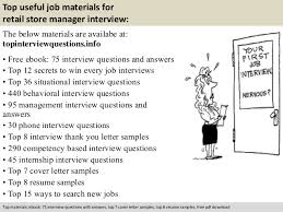 Retail Store Manager Sample Resume by Retail Store Manager Interview Questions