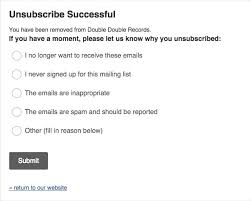 edit or remove the unsubscribe reason survey mailchimp