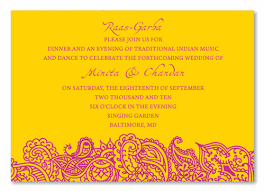 traditional indian wedding invitations insert cards for rass garba bombay