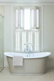 Interior Shutters For Windows Shutter Double Hung Faux White Bathroom Traditional Jpg
