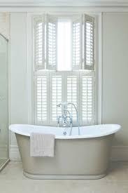 Folding Window Shutters Interior Shutter Double Hung Faux White Bathroom Traditional Jpg