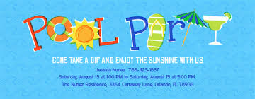 pool party invitations kids pool party favors evite