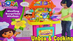 Toy Kitchen Set For Boys Girls Fun Dora The Explorer Pretend Play Kitchen Set Toy Unboxing