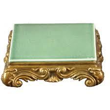 oriental designs celadon platform porcelain stand