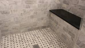 bathroom tile vintage white tile gray floor tile classic