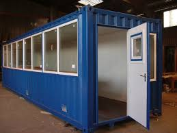 container with personnel doors and fitted windows