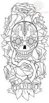 pics photos sugar skull and flower tattoo design tattoos funny