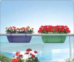 planter for balcony railing and garden fence