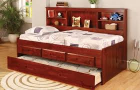 Daybed With Bookcase Headboard Twin Daybed With Bookshelf And 3 Drawers And Trundle Desk Hutch