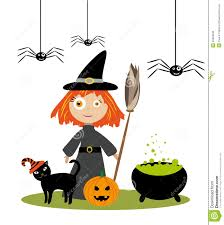 little witch stock vector image 45823238